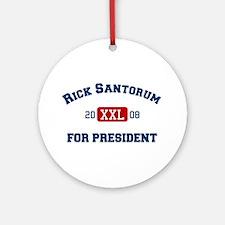 Rick Santorum for President Ornament (Round)
