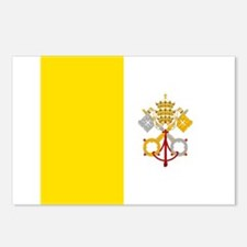 Flag of Vatican City Postcards (Package of 8)