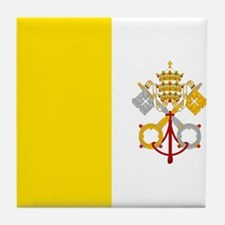 Flag of Vatican City Tile Coaster