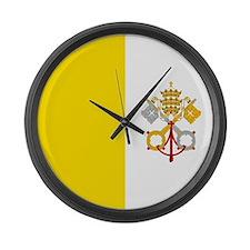 Flag of Vatican City Large Wall Clock