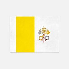 Flag of Vatican City 5'x7'Area Rug