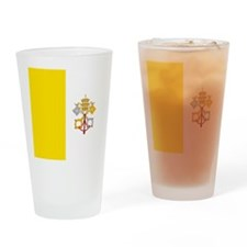Flag of Vatican City Drinking Glass