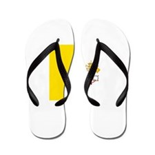 Flag of Vatican City Flip Flops