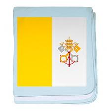 Flag of Vatican City baby blanket