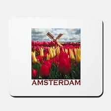 Amsterdam Tulips Mousepad