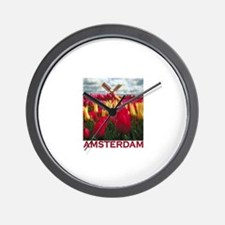 Amsterdam Tulips Wall Clock