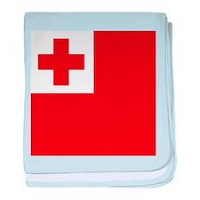 Flag of Tonga baby blanket