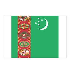 Flag of Turkmenistan Postcards (Package of 8)