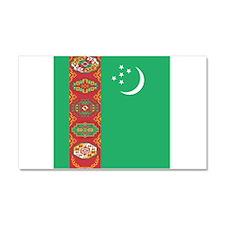 Flag of Turkmenistan Car Magnet 20 x 12