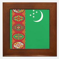 Flag of Turkmenistan Framed Tile