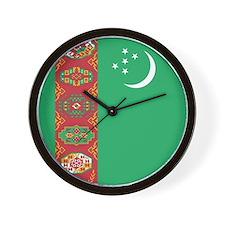 Flag of Turkmenistan Wall Clock
