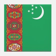 Flag of Turkmenistan Tile Coaster