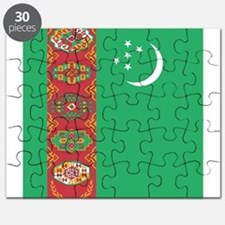 Flag of Turkmenistan Puzzle