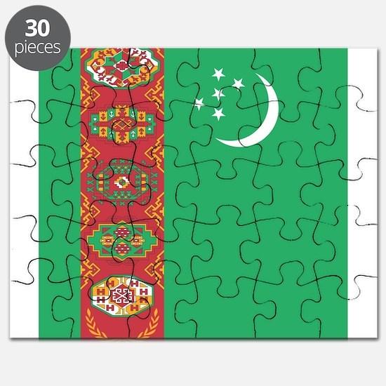 Flag of Turkmenistan Puzzle