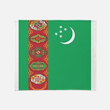Flag of Turkmenistan Throw Blanket