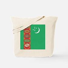 Flag of Turkmenistan Tote Bag