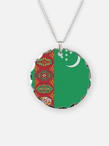 Flag of Turkmenistan Necklace