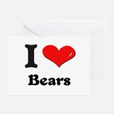 I love bears  Greeting Cards (Pk of 10)