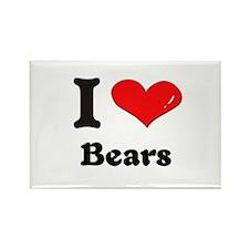 I love bears Rectangle Magnet