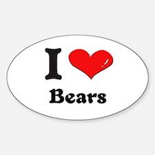 I love bears Oval Decal