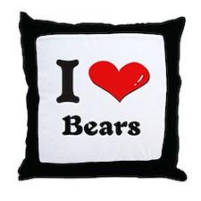 I love bears  Throw Pillow