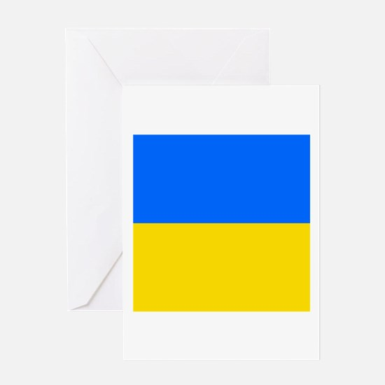 Flag of Ukraine Greeting Cards
