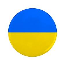"""Flag of Ukraine 3.5"""" Button"""