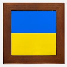 Flag of Ukraine Framed Tile