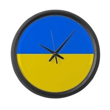 Flag of Ukraine Large Wall Clock