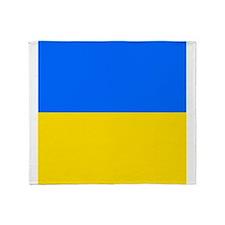 Flag of Ukraine Throw Blanket