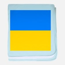 Flag of Ukraine baby blanket