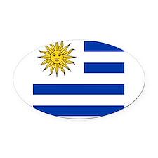 Flag of Uruguay Oval Car Magnet