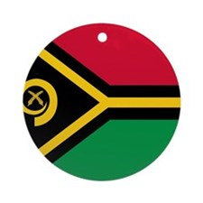 Flag of Vanuatu Ornament (Round)