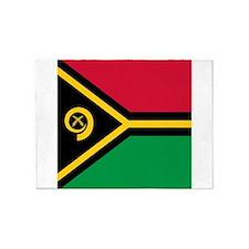 Flag of Vanuatu 5'x7'Area Rug