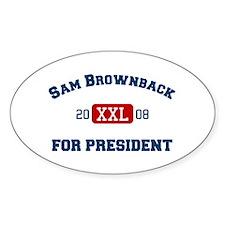 Sam Brownback for President Oval Decal