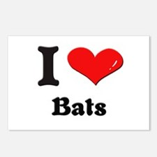 I love bats  Postcards (Package of 8)