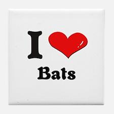 I love bats  Tile Coaster
