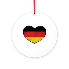 German Heart Ornament (Round)