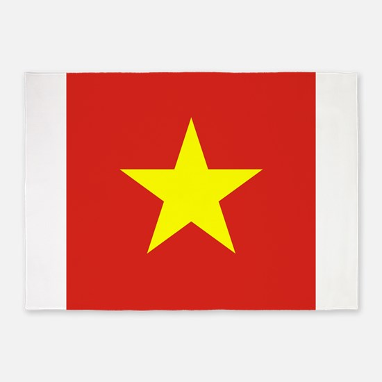 Flag of Vietnam 5'x7'Area Rug