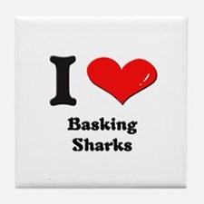 I love basking sharks  Tile Coaster