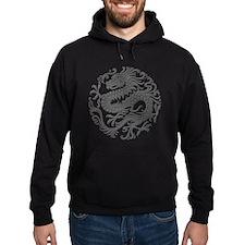 Traditional Gray Chinese Dragon Circle Hoody