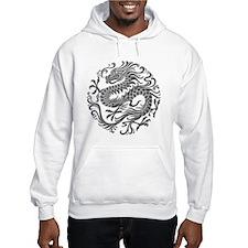 Traditional Gray Chinese Dragon Circle Hoodie Swea