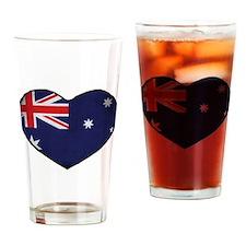 Australian Heart Drinking Glass