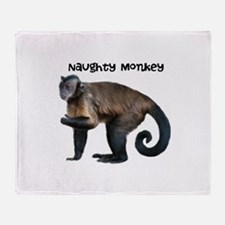 Personalizable Monkey Photo Throw Blanket