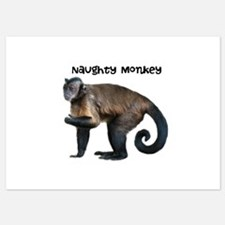 Personalizable Monkey Photo Invitations