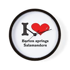 I love barton springs salamanders  Wall Clock