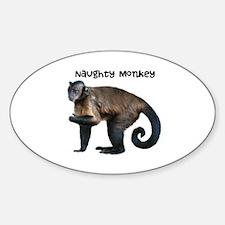 Personalizable Monkey Photo Sticker (Oval)