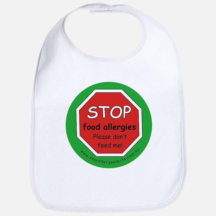 STOP food allergies. Please don't feed me! Bib