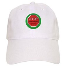 STOP food allergies. Please don't feed me! Baseball Cap