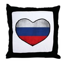 Russian Heart Throw Pillow